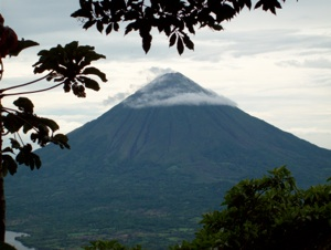 Volcano called Concepcion is nearly 1700 meters tall