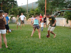 Foreign Students and Local Students play some soccer